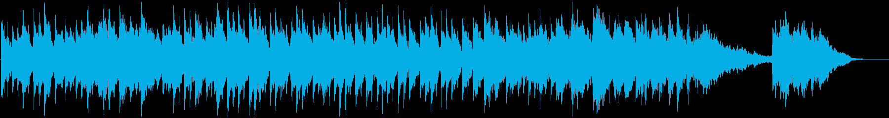 ピアノとシンセの広がりのあるアンビエントの再生済みの波形