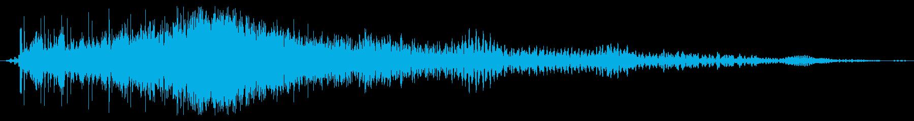 トーンシンセパワーバーストの再生済みの波形