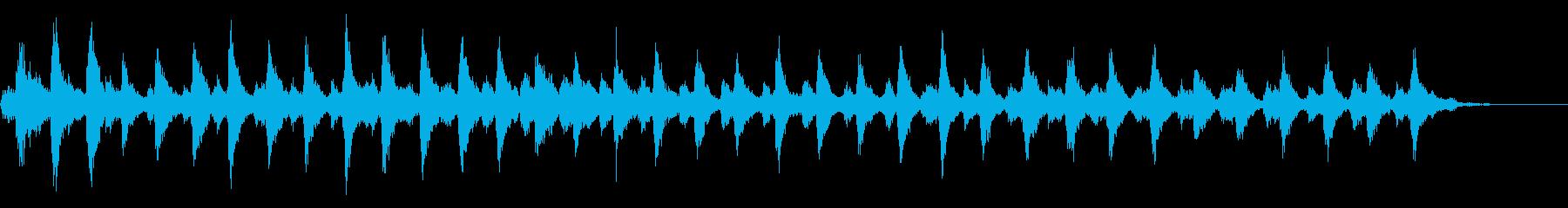 一定のリンギング、遅いベルの再生済みの波形