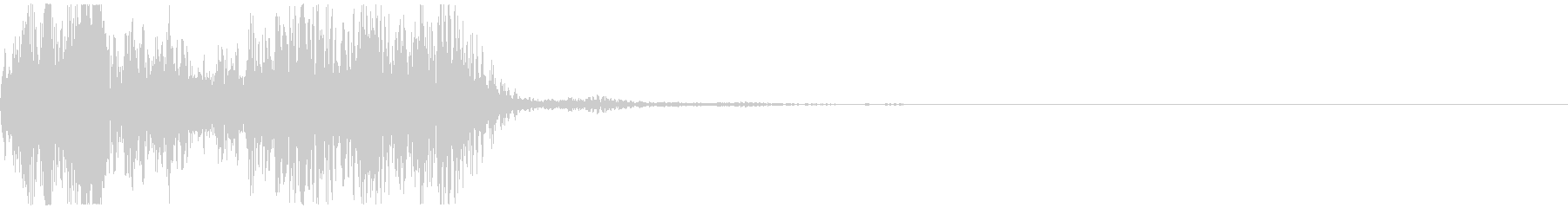 アニメにありそうなエネルギー弾(ポヒ)の未再生の波形