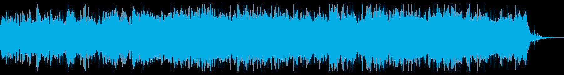 幻想的でデジタルなテクスチャの再生済みの波形