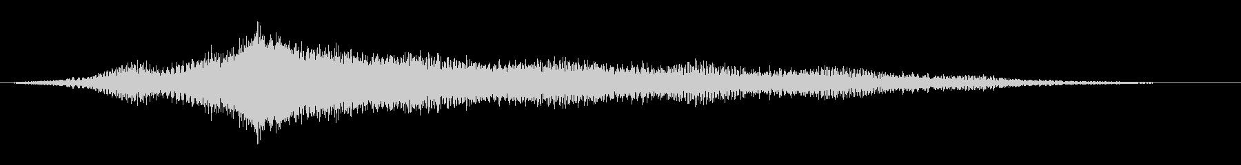 キーン:オープニングロゴなどの締めの音2の未再生の波形