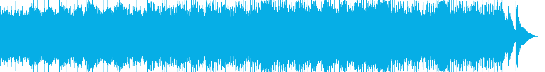 アップテンポのわくわくしたBGMの再生済みの波形