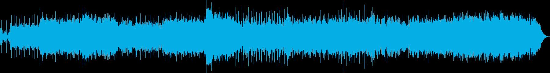 スピード感のあるギターロックの再生済みの波形
