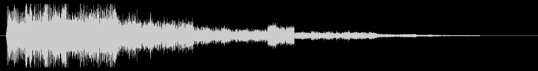 ファンタジックなセレクト音 スタート音の未再生の波形