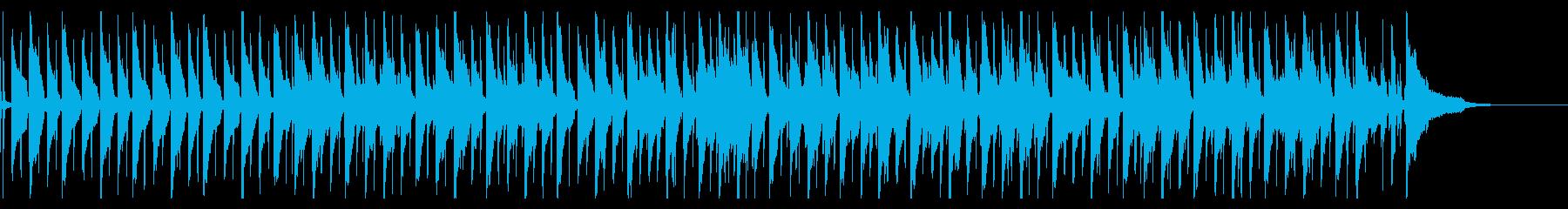 生コントラバスのゆったりとしたBGMの再生済みの波形