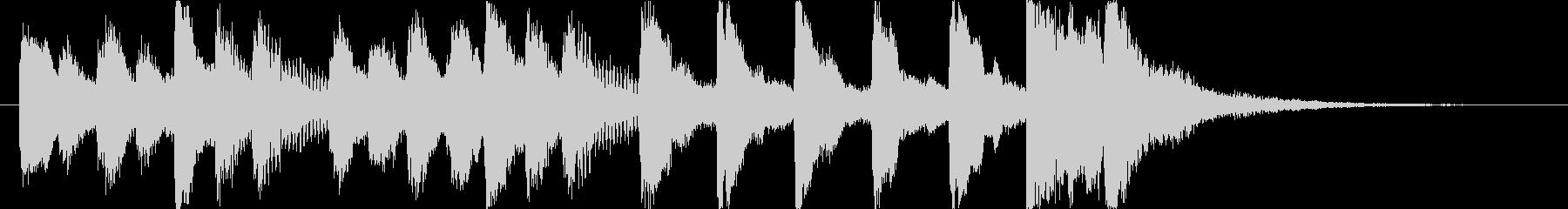 コミカルで怪しいオーケストラロゴ♪の未再生の波形
