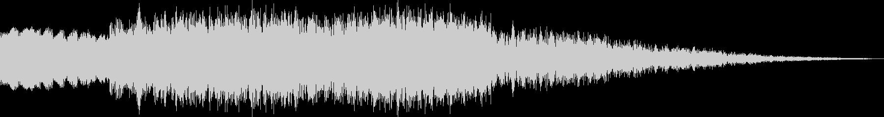 ピュイーン 上昇系電子音の未再生の波形