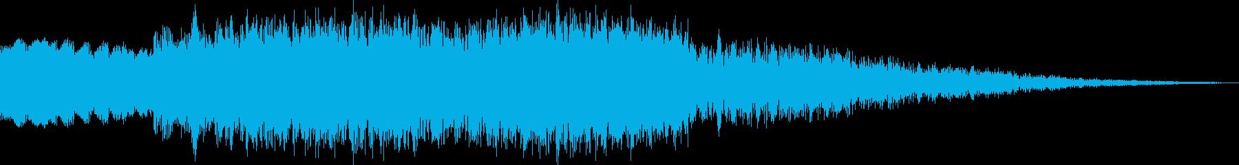 ピュイーン 上昇系電子音の再生済みの波形