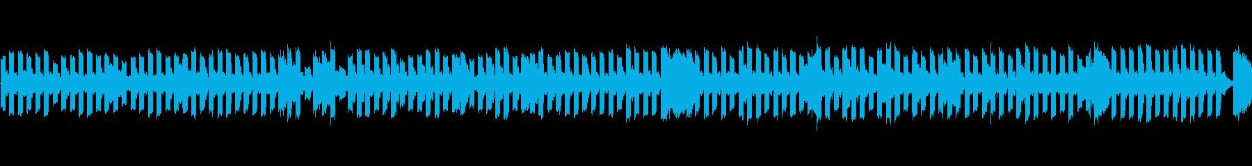 チップチューンのコミカルなBGMの再生済みの波形