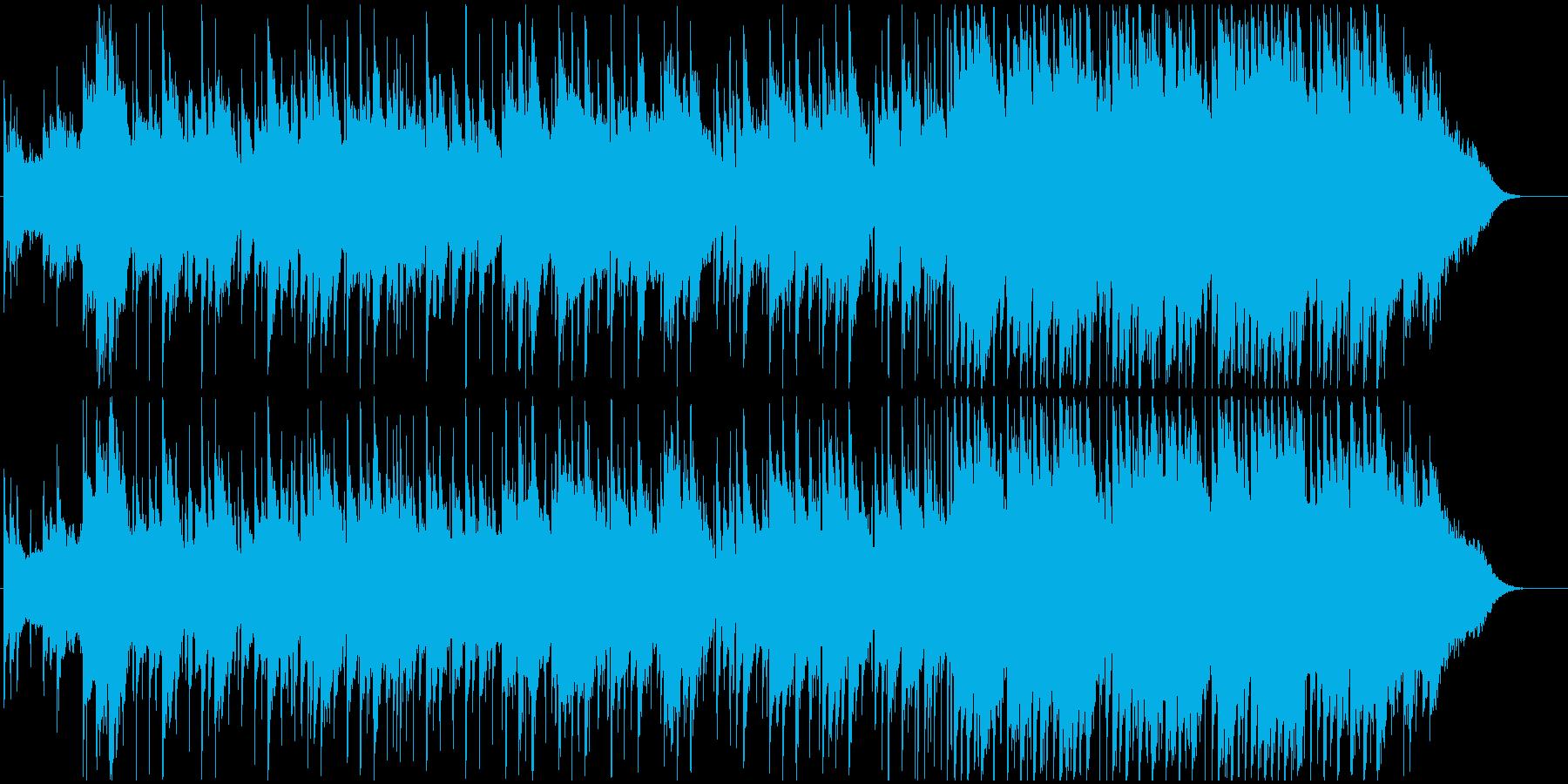 広がりのある美しいメロディーのBGMの再生済みの波形