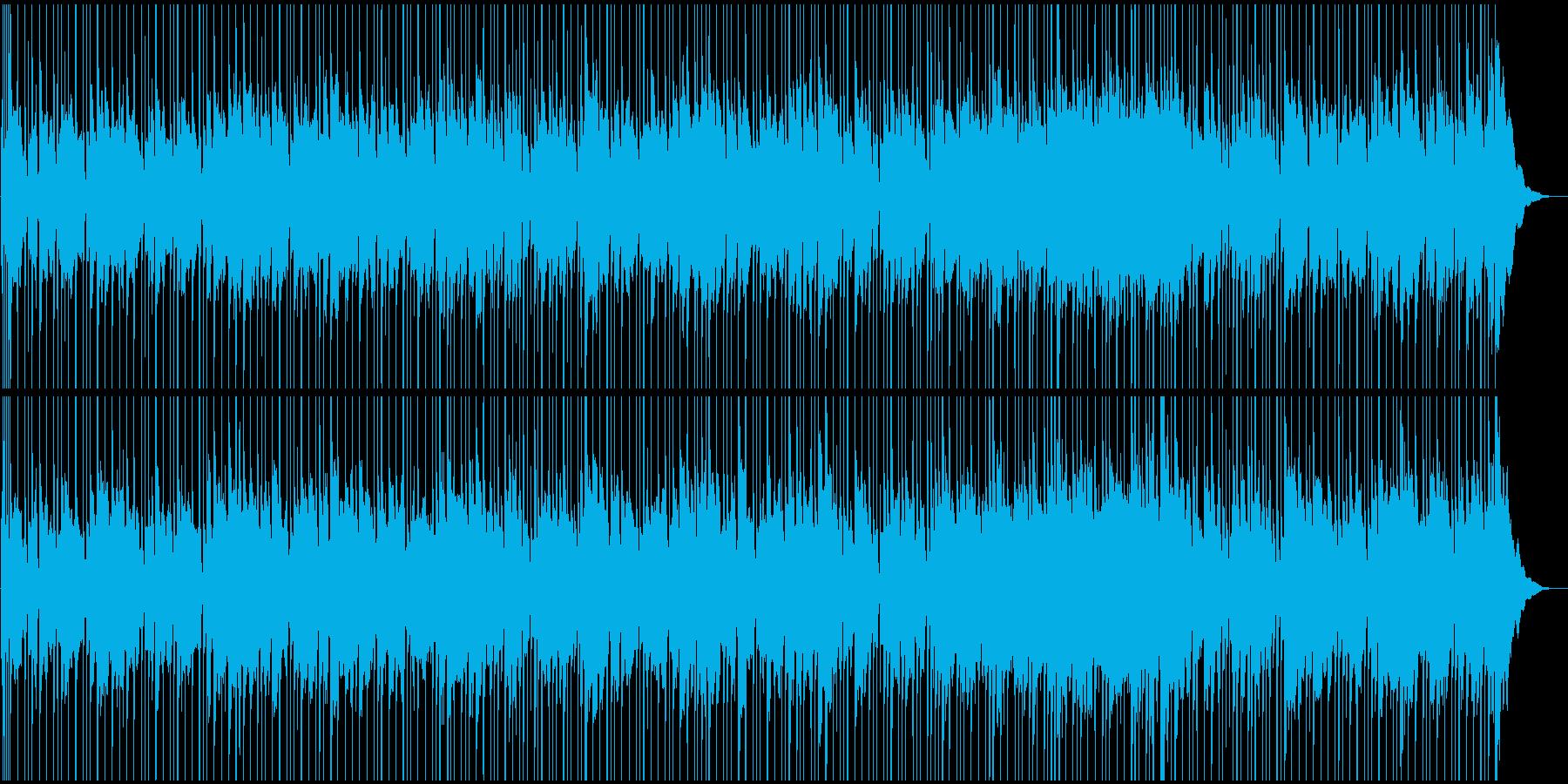 エレピ和音とシンセの落ち着いたBGMの再生済みの波形