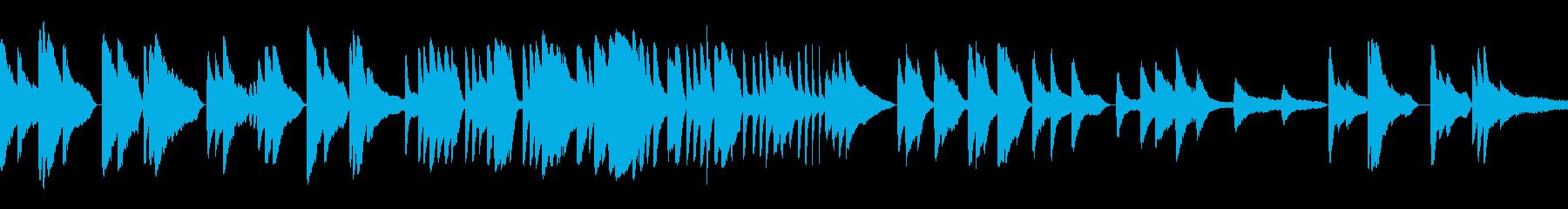 ピアノを使ったゆったりした曲の再生済みの波形