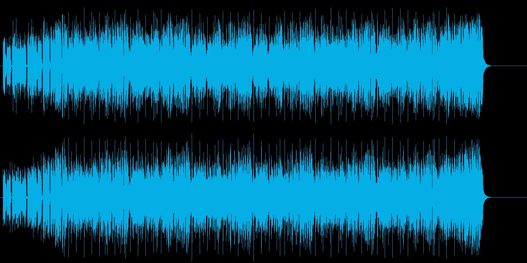 ラップ調ファンク/テクノの再生済みの波形