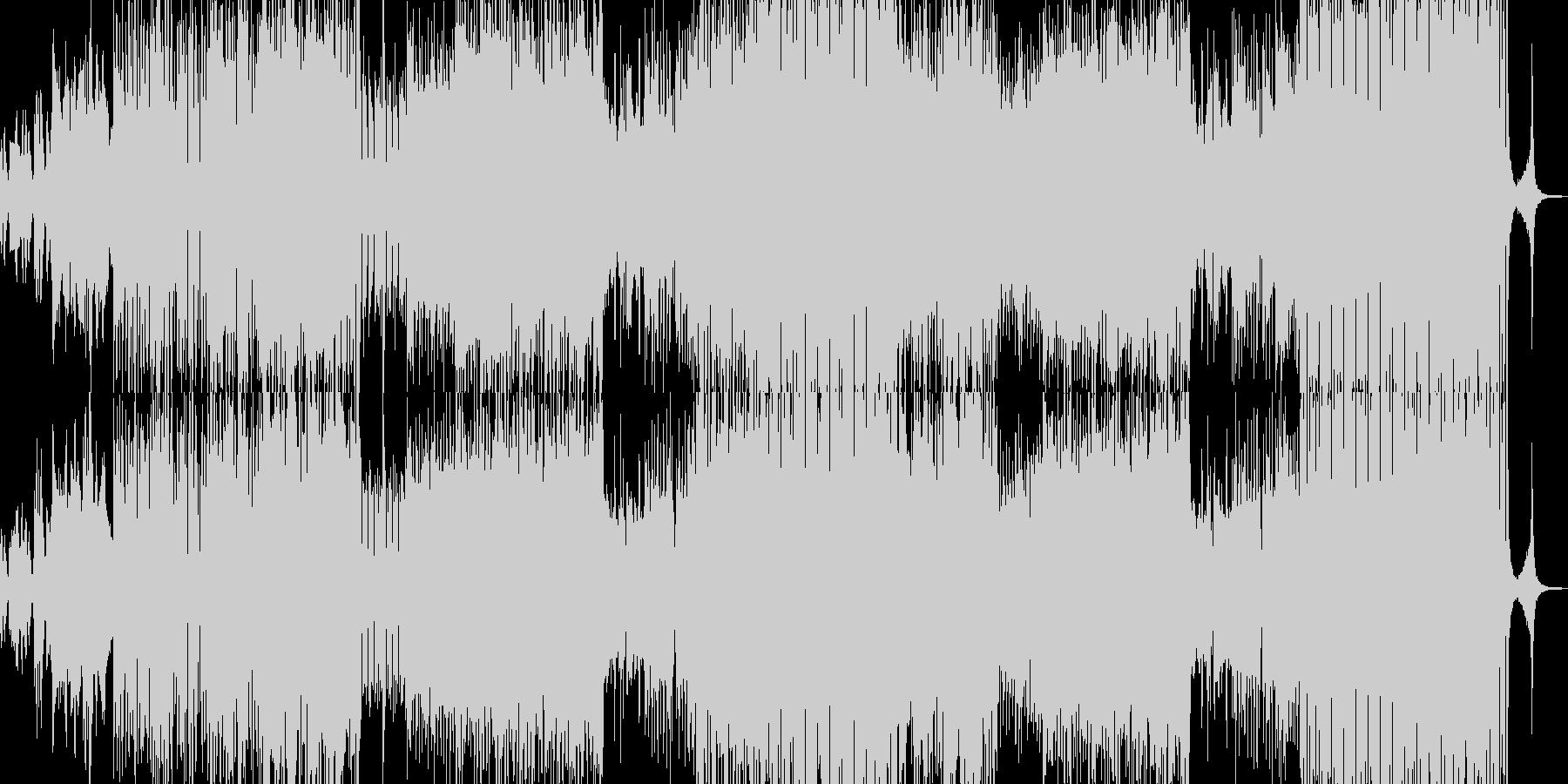闇・忍び寄る恐怖がテーマのロックの未再生の波形