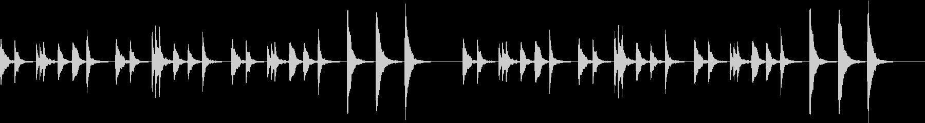 ループ 不思議なマリンバ RPG 洞窟の未再生の波形