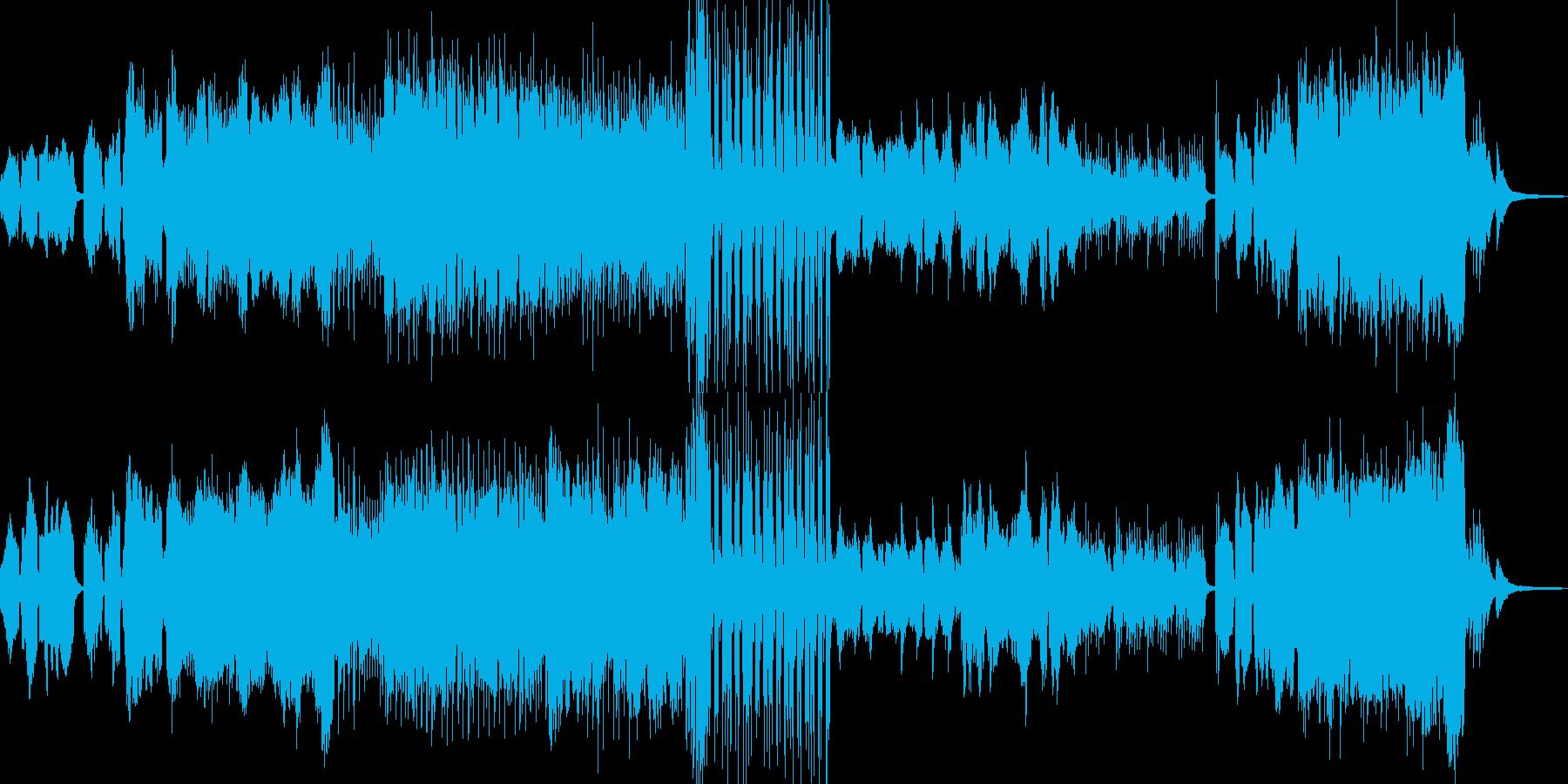 枯れ葉が舞い散るイメージ Aの再生済みの波形