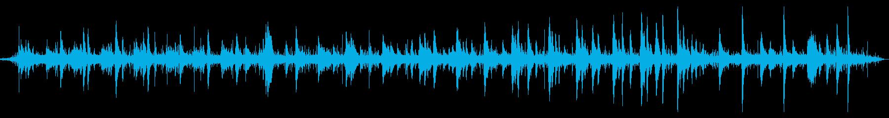 雨の森とピアノ ヒーリングミュージックの再生済みの波形