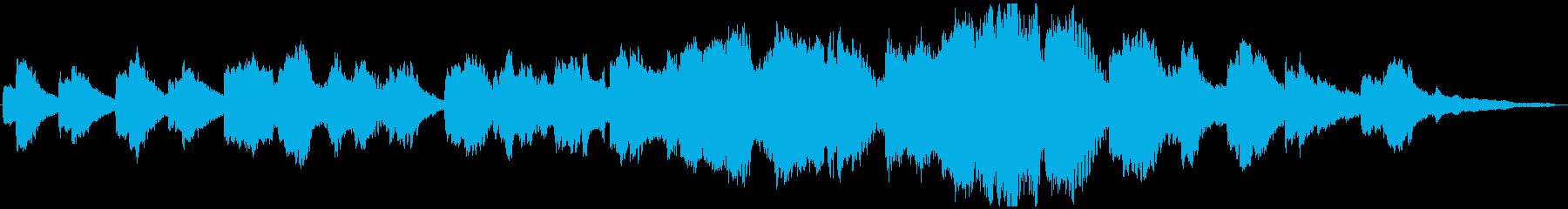 生演奏フルートがしっとり静かに歌うBGMの再生済みの波形