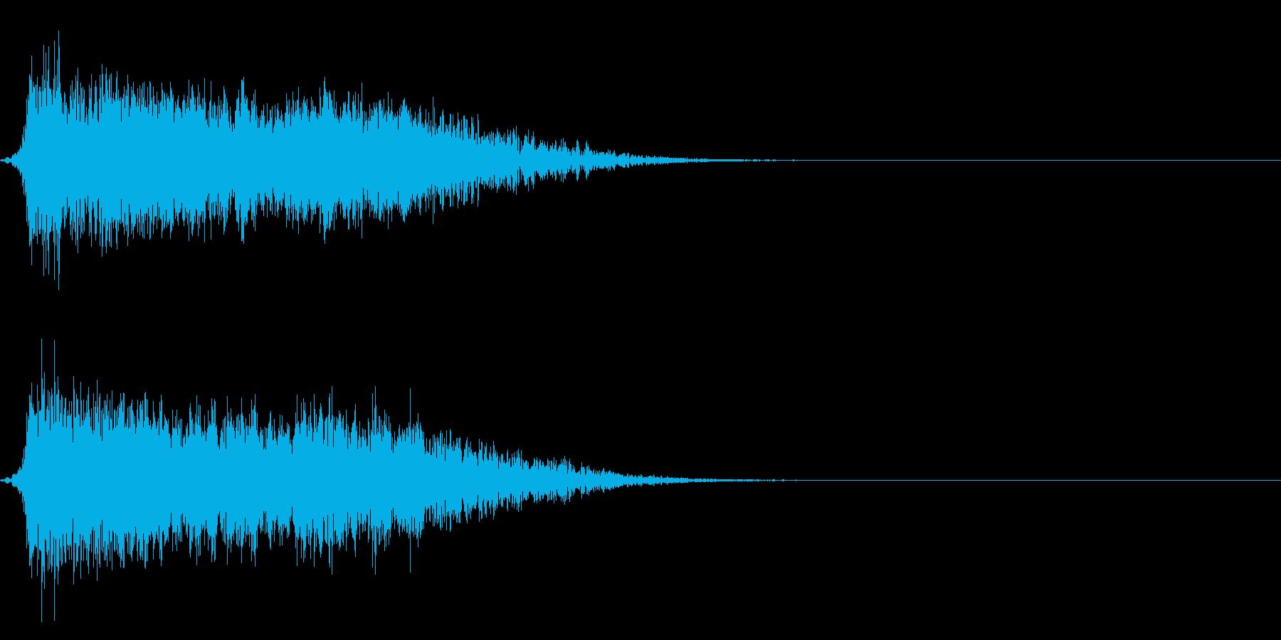 コミカルなダッシュ!ジャンプ効果音!6bの再生済みの波形