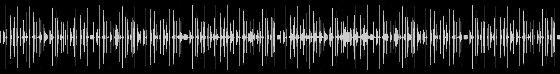 無機質なビートのパズルゲーム風BGMの未再生の波形