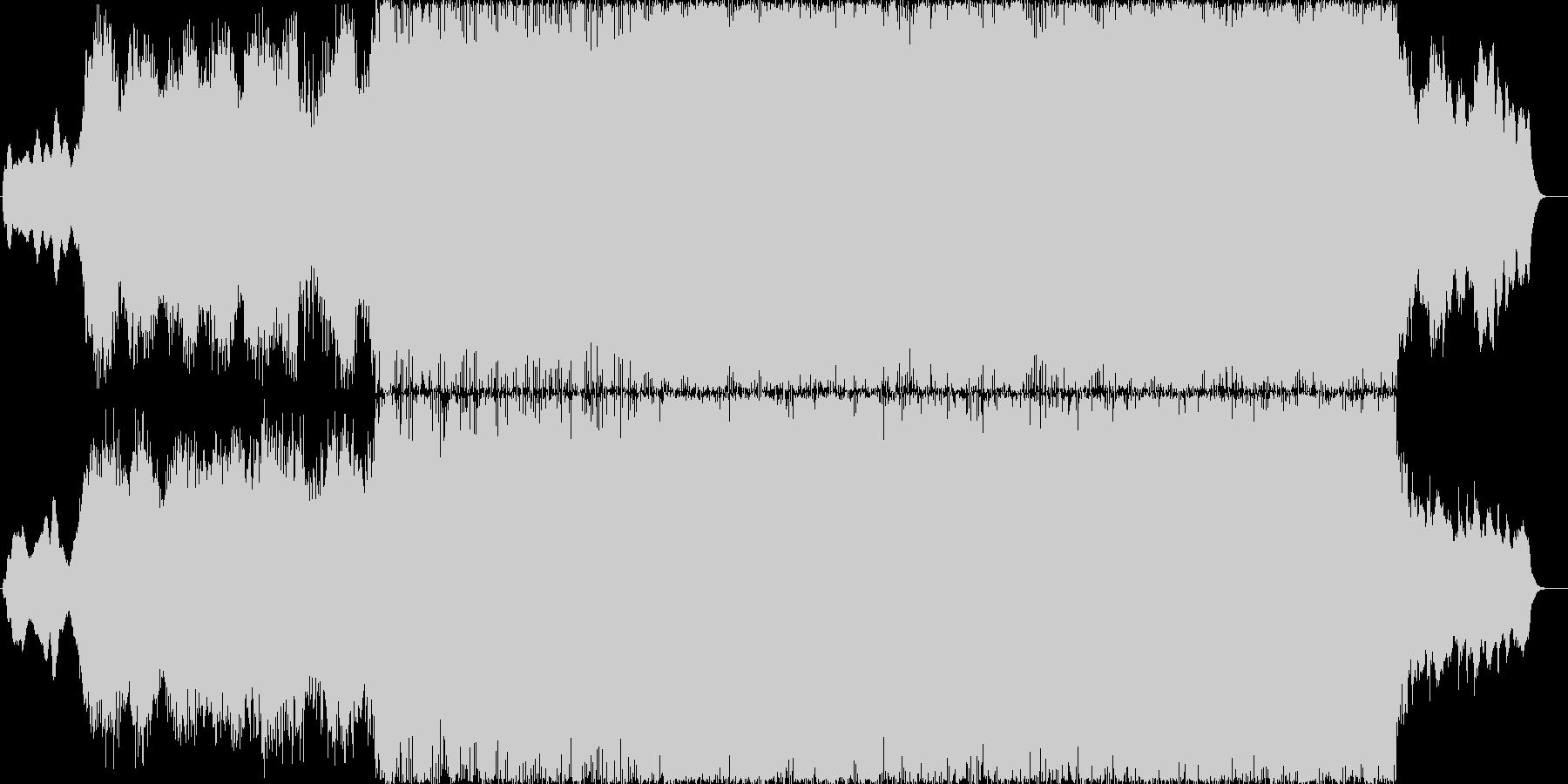 幻想的なイントロとドラムンベースのBGMの未再生の波形