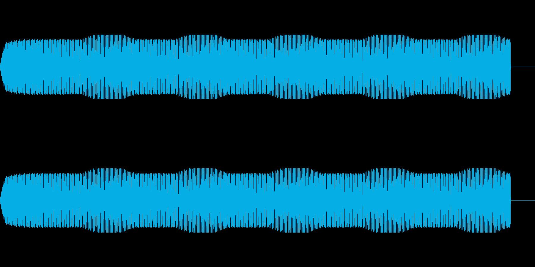 モータ・エンジンの駆動音【ドドドドド】の再生済みの波形