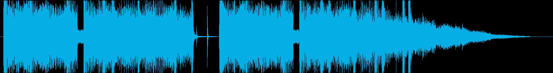 10秒・ジャズ・Lo-Fi・キーボードの再生済みの波形