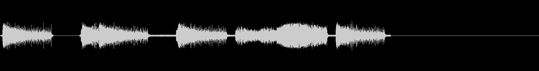 レーザー、アーケード5の未再生の波形