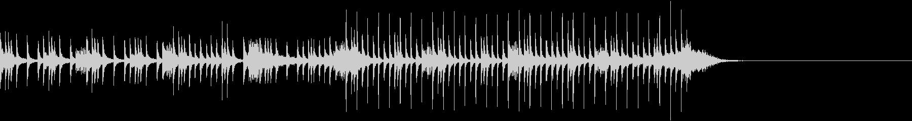 コミカルな打楽器中心の曲の未再生の波形