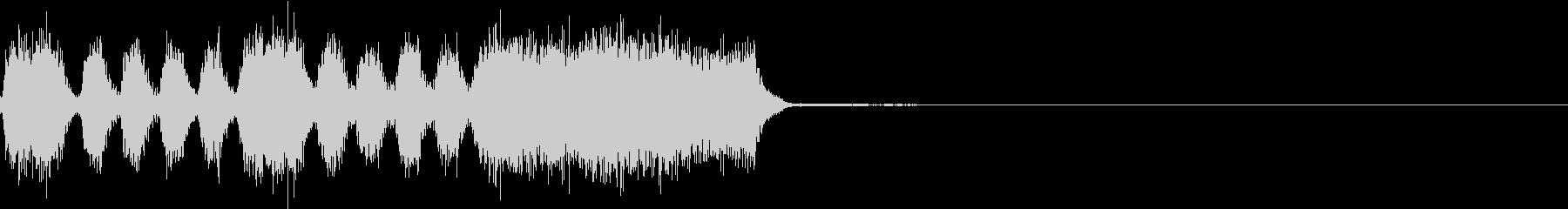 シンプル ファンファーレ 成功 完成 Cの未再生の波形