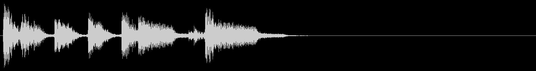 結果、順位発表などに!シンプルなジングルの未再生の波形