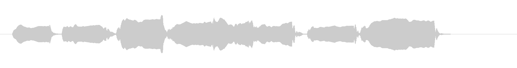 youtube へたくそリコーダー1の未再生の波形