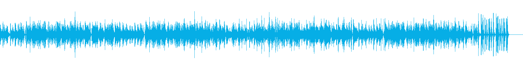夏や海に!波打ち際をイメージしたボサノバの再生済みの波形