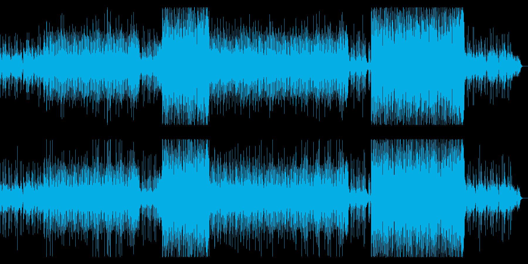和のテイストを感じるトロピカルハウスの再生済みの波形