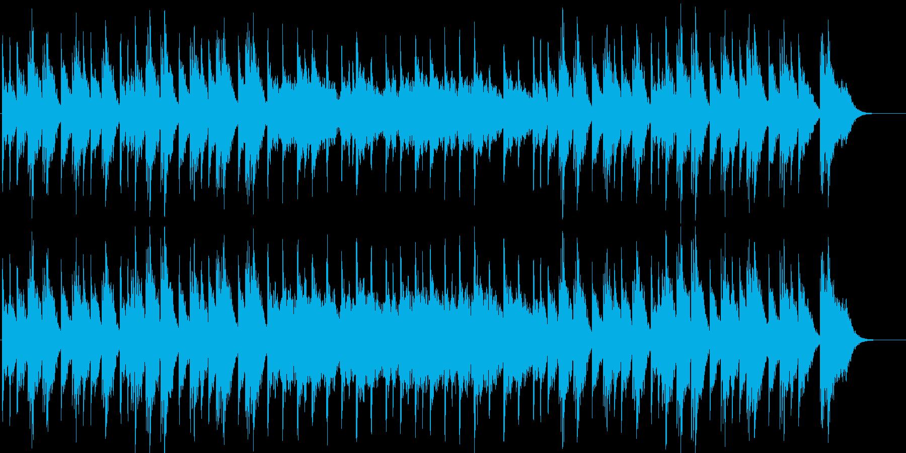 幻想的で悲しいピアノ曲の再生済みの波形