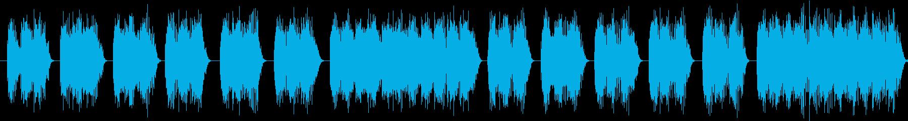 【エレキギター】デス系ヘヴィーリフの再生済みの波形
