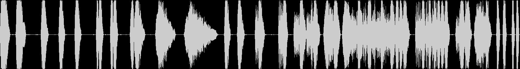レーザーバトルタンクショットの未再生の波形