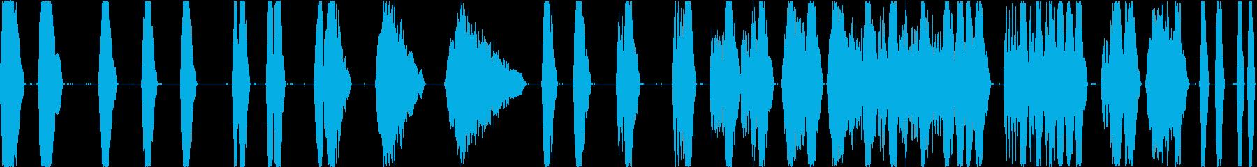 レーザーバトルタンクショットの再生済みの波形