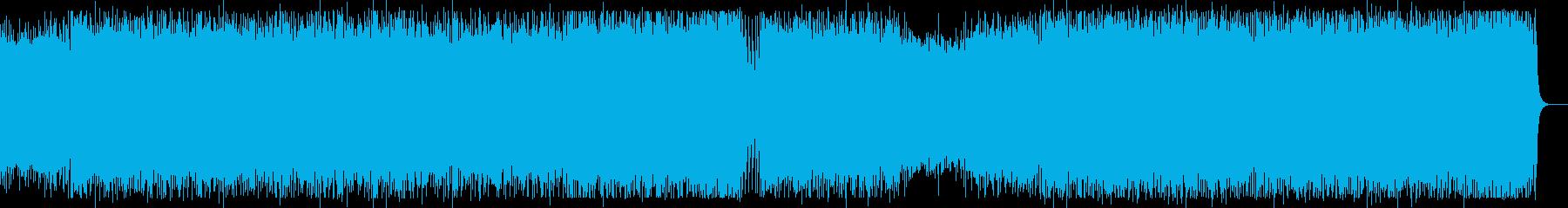 スピード感のあるスポーツ向きテクノロックの再生済みの波形