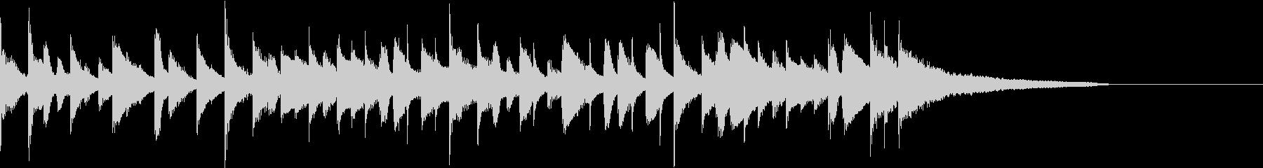 カフェ風ボサノヴァ ジングル1の未再生の波形