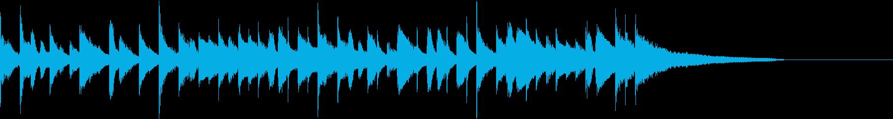 カフェ風ボサノヴァ ジングル1の再生済みの波形
