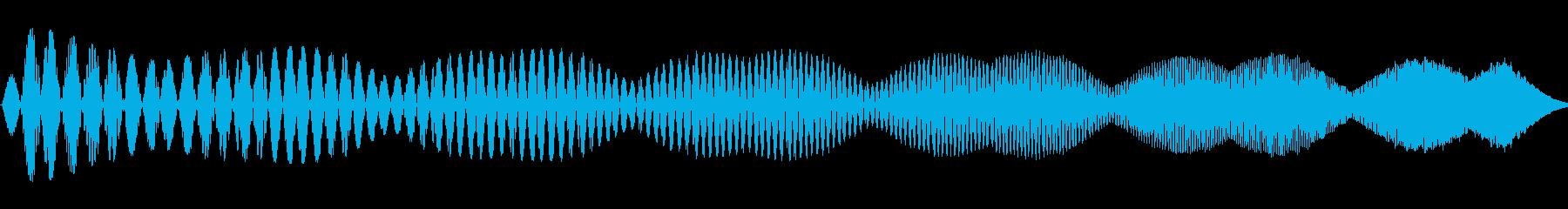 電動スワイプ3の再生済みの波形