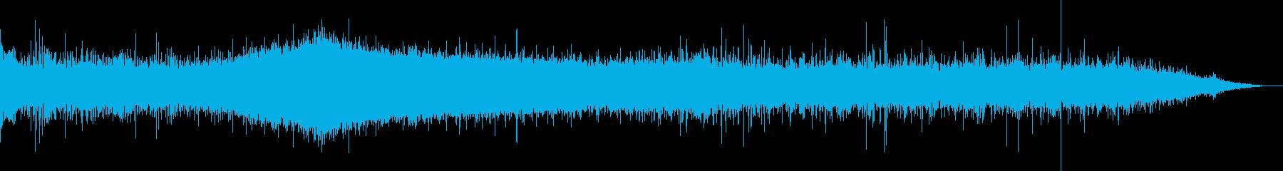 ピピピ…鳥の鳴き声、川、車の通過音の再生済みの波形
