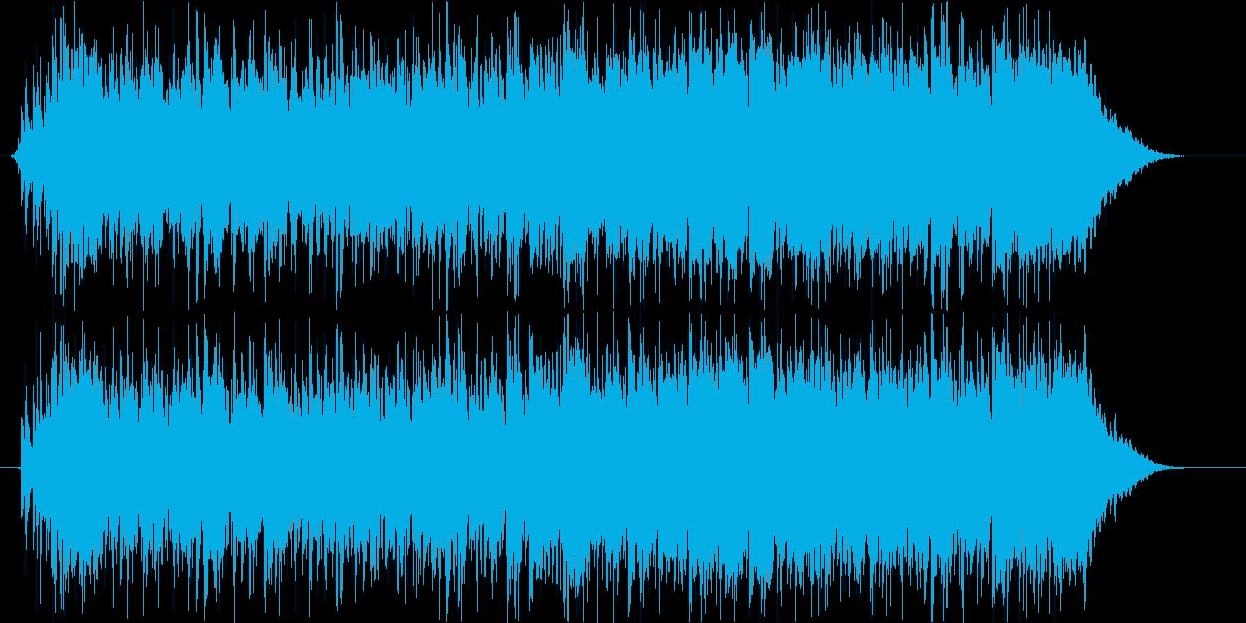 エレキギターカッティング。ドライブ!海!の再生済みの波形