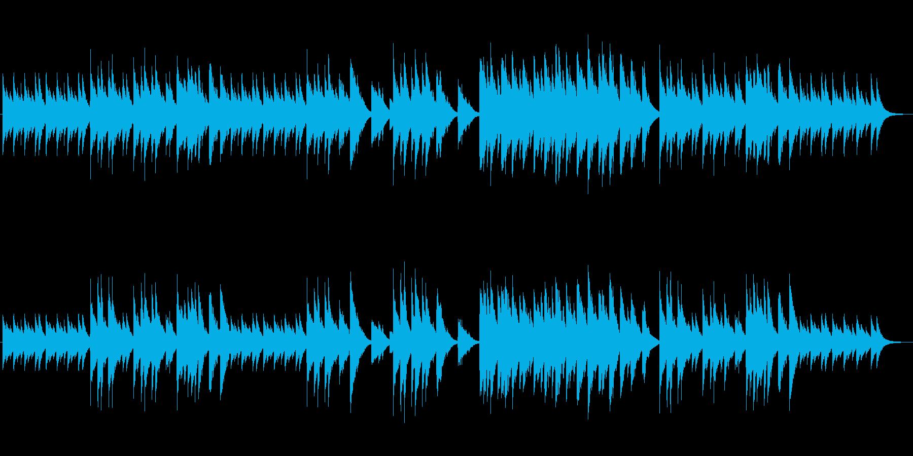 ノスタルジックな温かみのあるBGMの再生済みの波形