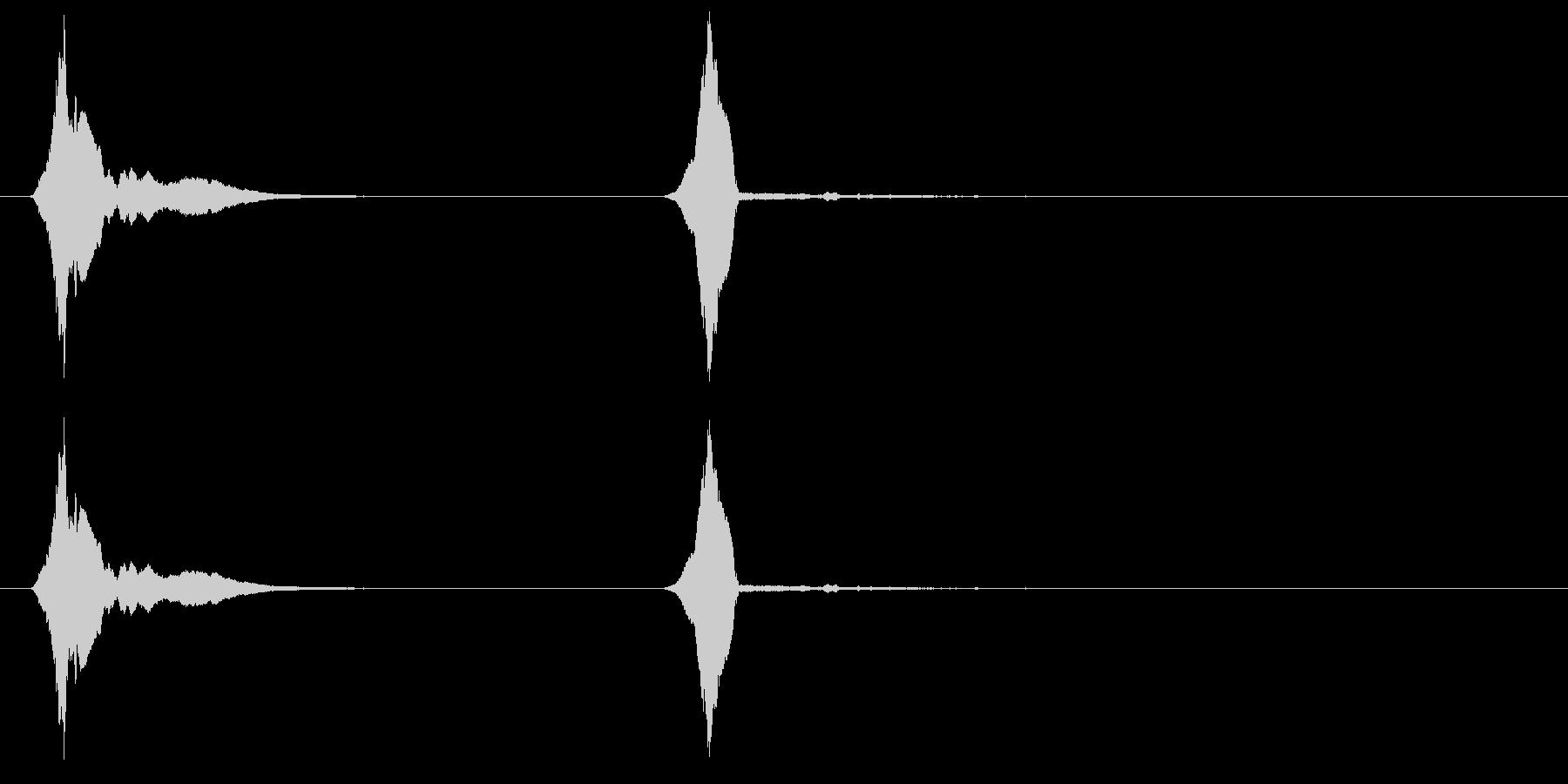 ウーピーホイッスル-2つの効果;甲...の未再生の波形