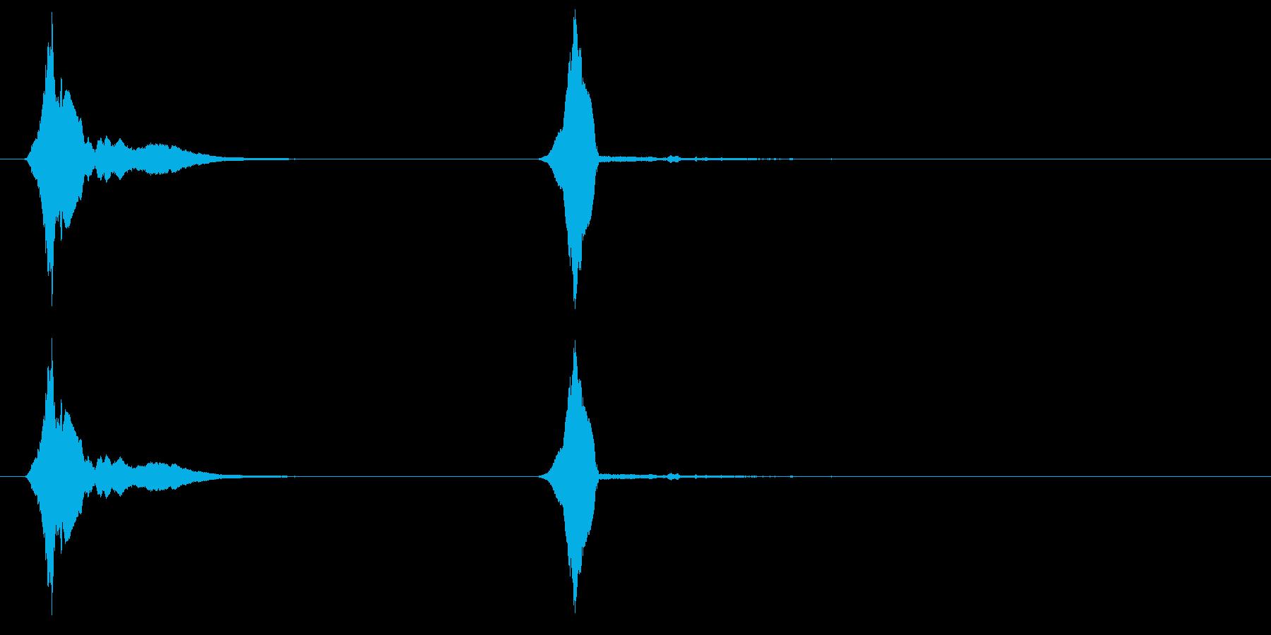 ウーピーホイッスル-2つの効果;甲...の再生済みの波形