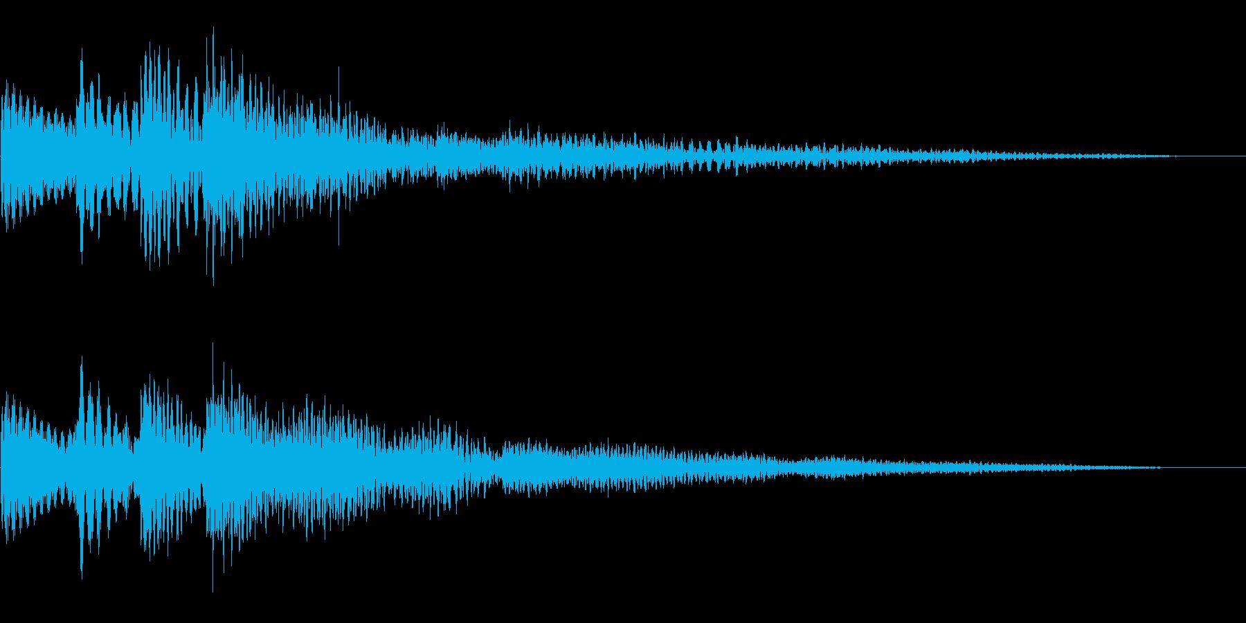 ソフトでクリアなボタン音です。の再生済みの波形