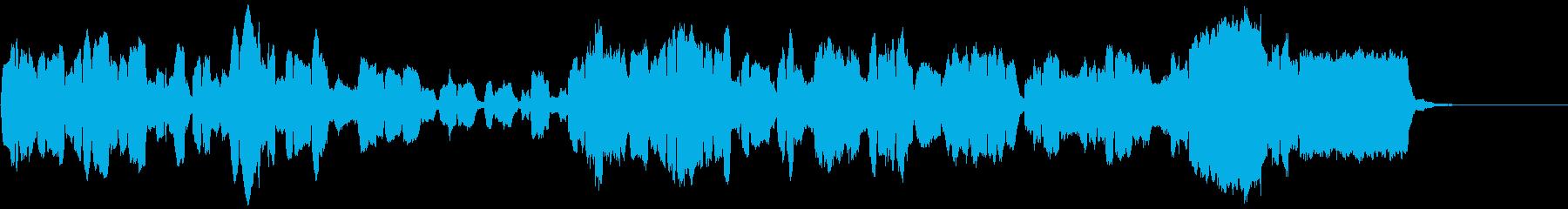 広がりのあるゆったりしたリコーダー曲の再生済みの波形